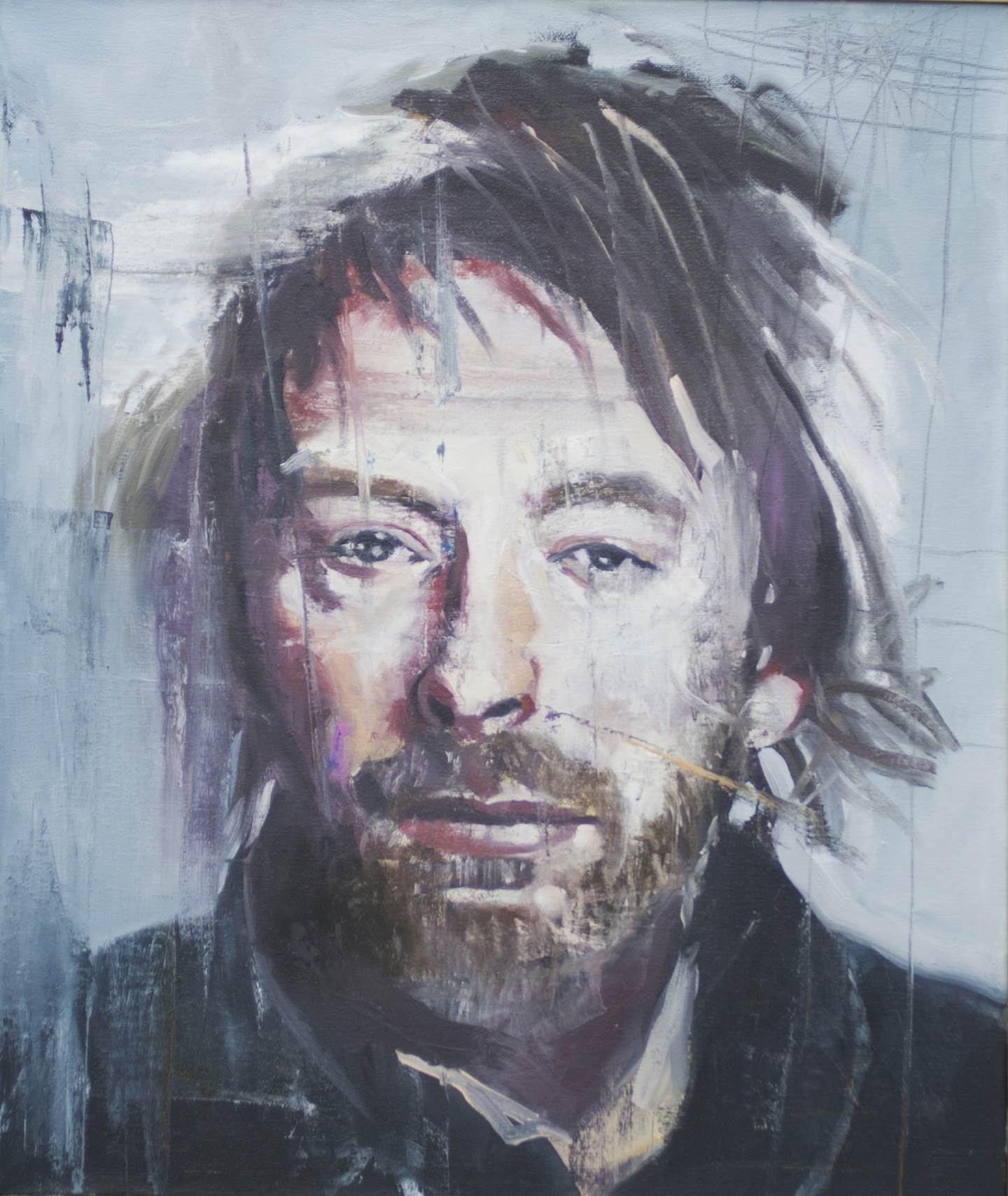 Thom Yorke, original Portrait  Painting by Ricardo Gonçalves