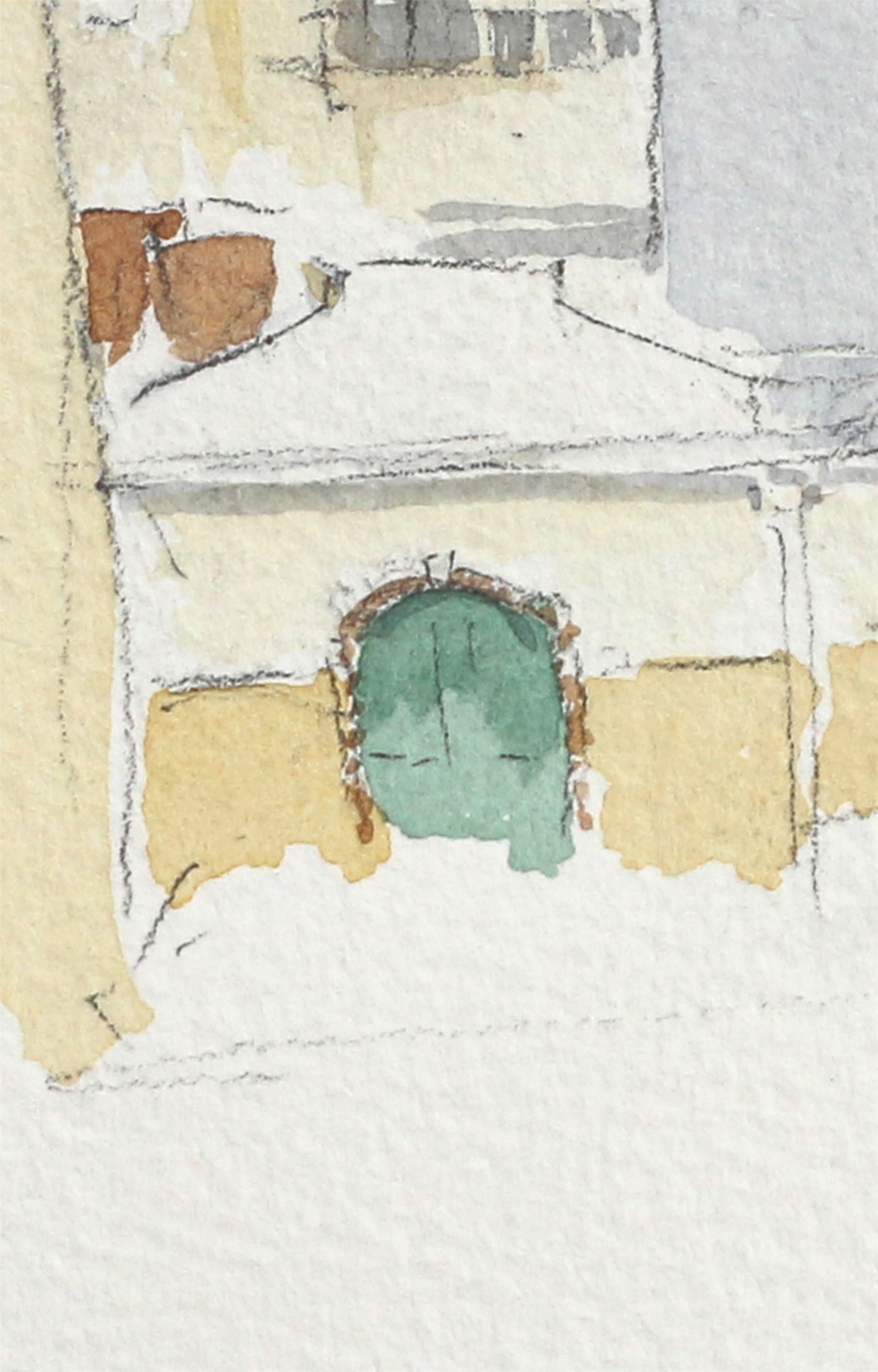 Cargas e descargas, original Architecture Watercolor Drawing and Illustration by João Gil Antunes