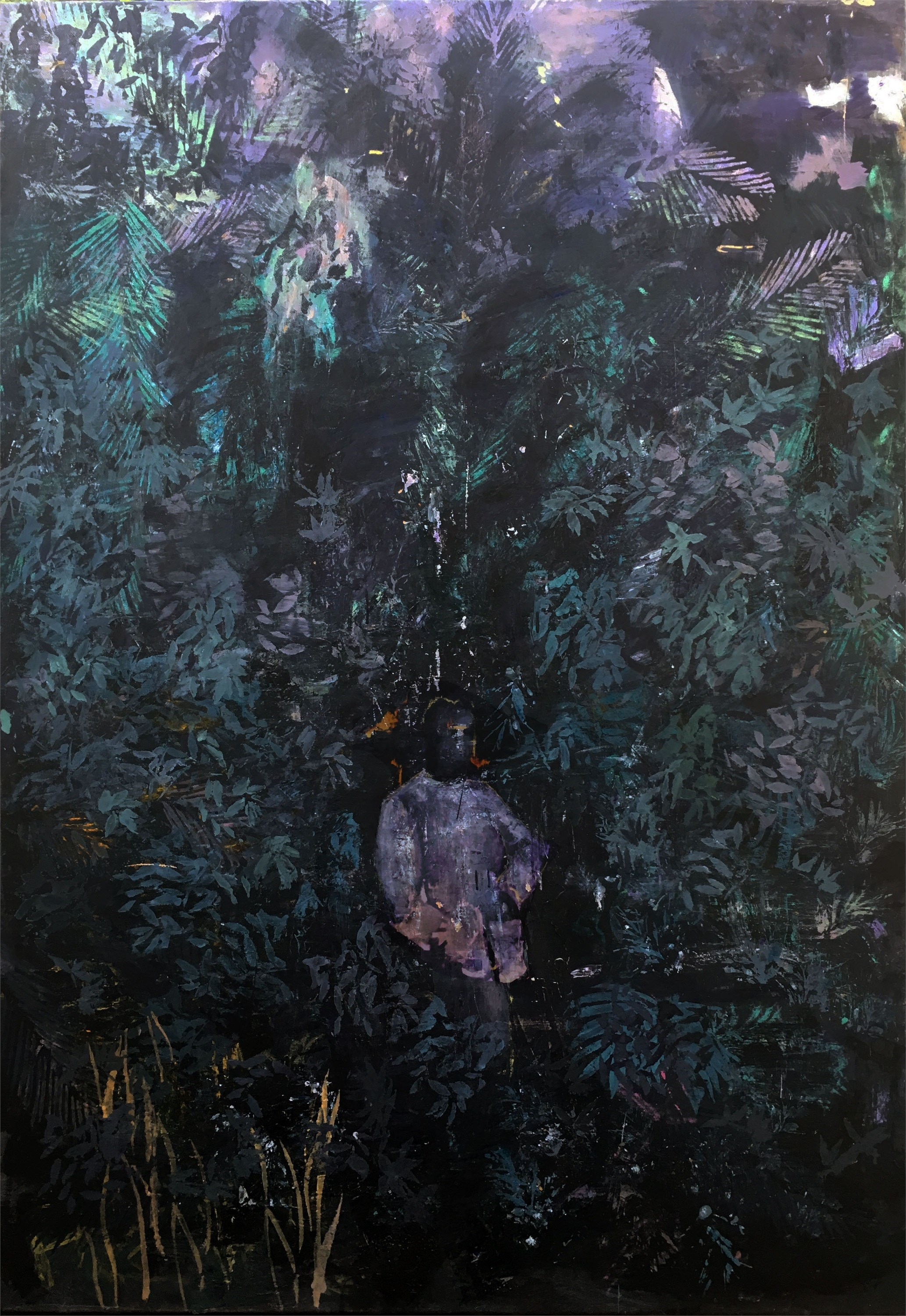 Selva III, original Human Figure Oil Painting by Hélio Luís