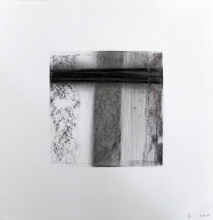 Drawn Inward III, original Abstract Charcoal Drawing and Illustration by Mariana Alves