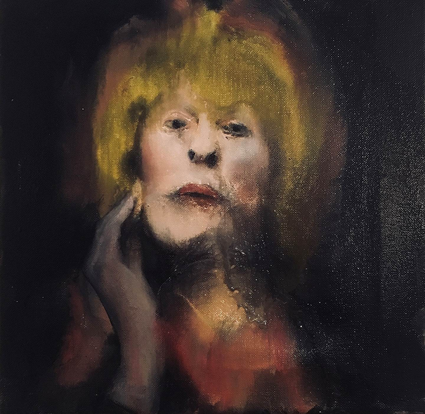 Leni., original Avant-Garde Canvas Painting by Pedro Martinez Marín