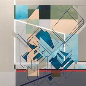 """Unconstrained"", original Geometric Acrylic Painting by Pedro Besugo"