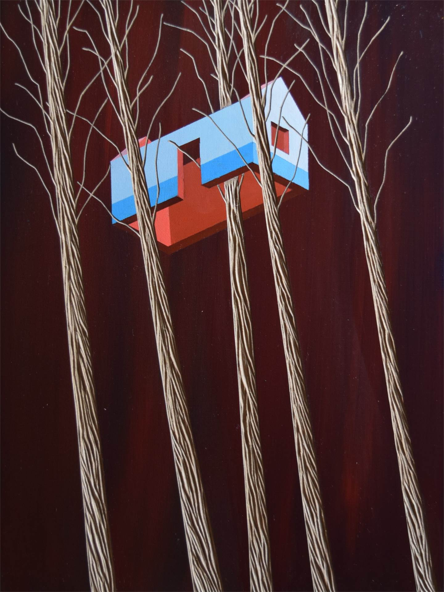 Building utopia_1, original Man Mixed Technique Painting by Domingos Loureiro