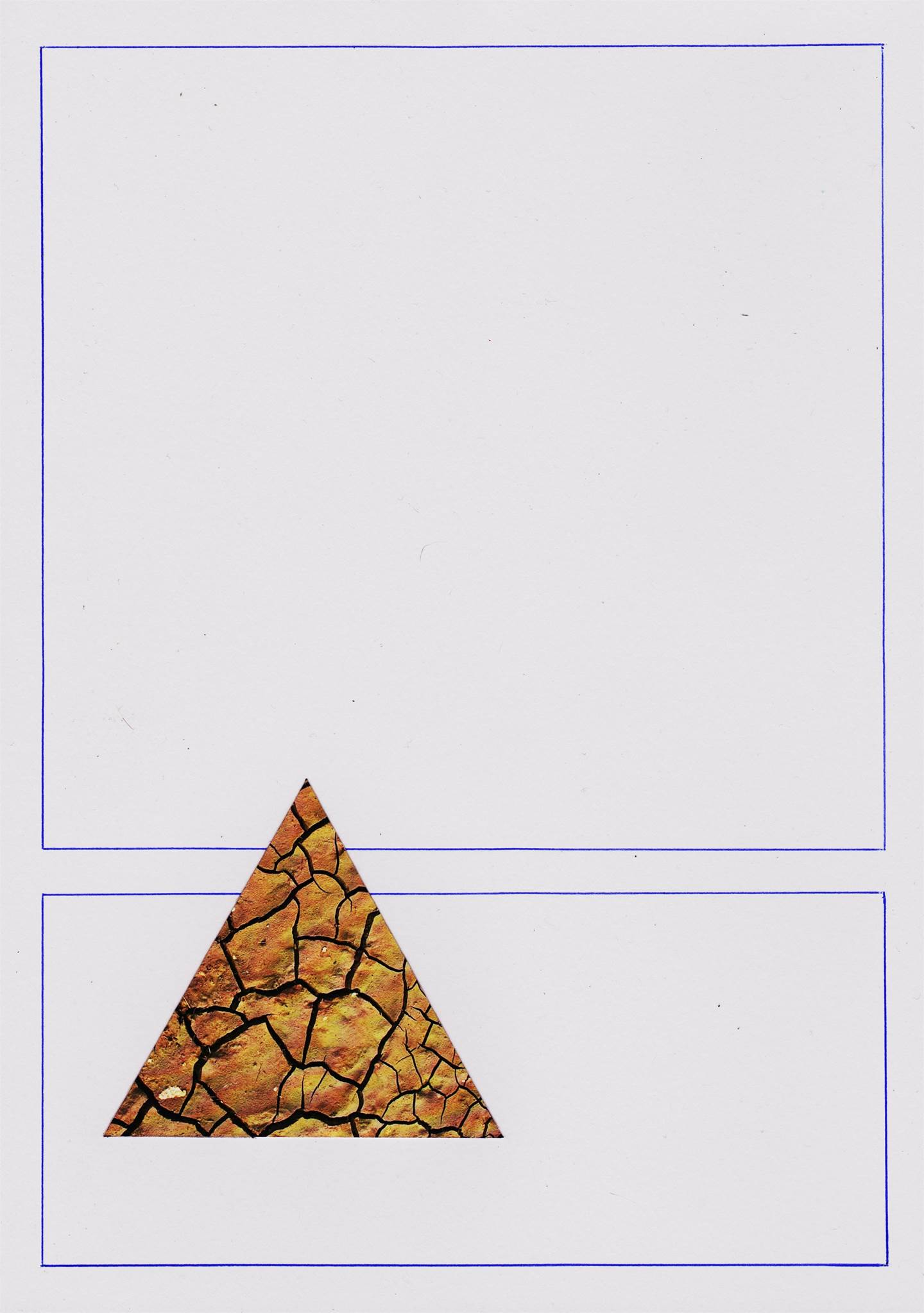 das Falésias II, original Minimalist Collage Drawing and Illustration by Mariana Bastos