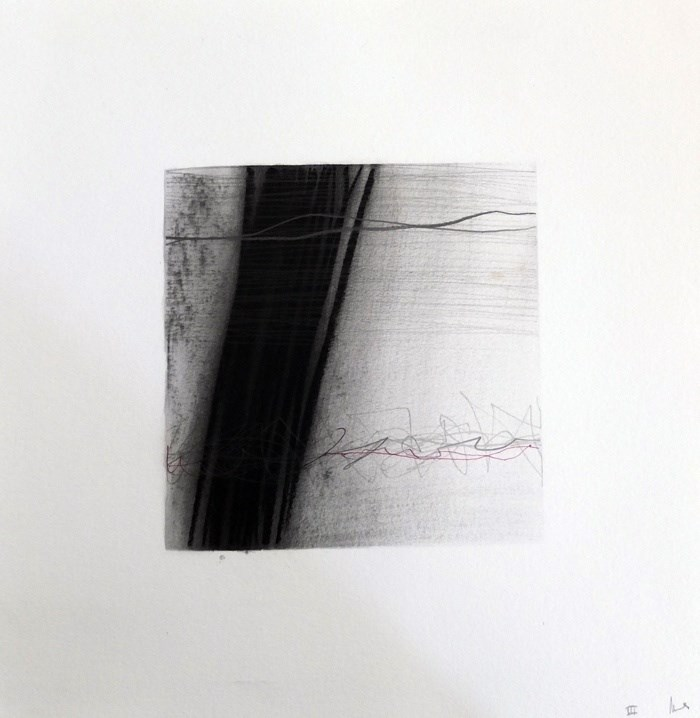 Drawn Inward VI, original Abstract Charcoal Drawing and Illustration by Mariana Alves