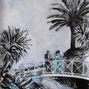 Jardim, original Big Acrylic Drawing and Illustration by Lígia Fernandes