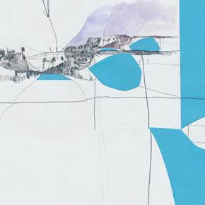 Die Brücke, original Abstract Collage Drawing and Illustration by Pedro Amaro