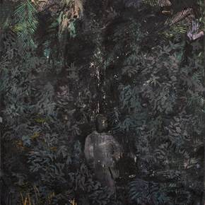 Selva, original Big Oil Painting by Hélio Luís