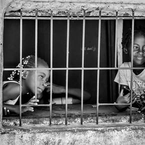 Meninas de Luanda, original B&W Digital Photography by Fernando  Gilberto