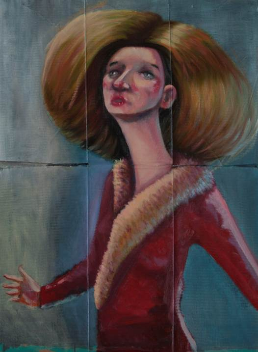 Sem Titulo Original Human Figure Oil Painting By Hugo Travanca