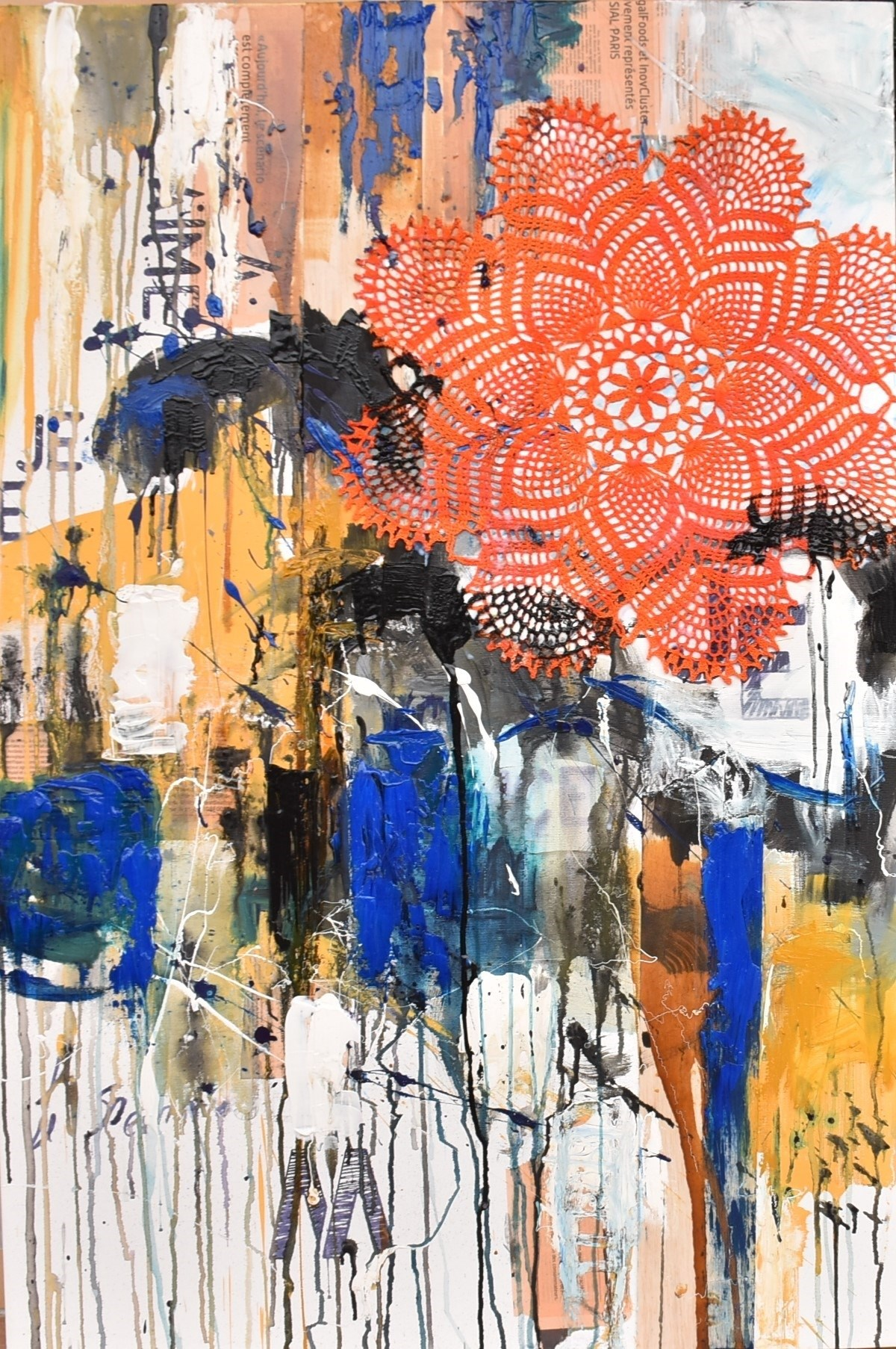 Time Lapse # a Msg from you, Pintura Técnica Mista Abstrato original por ELISA  COSTA