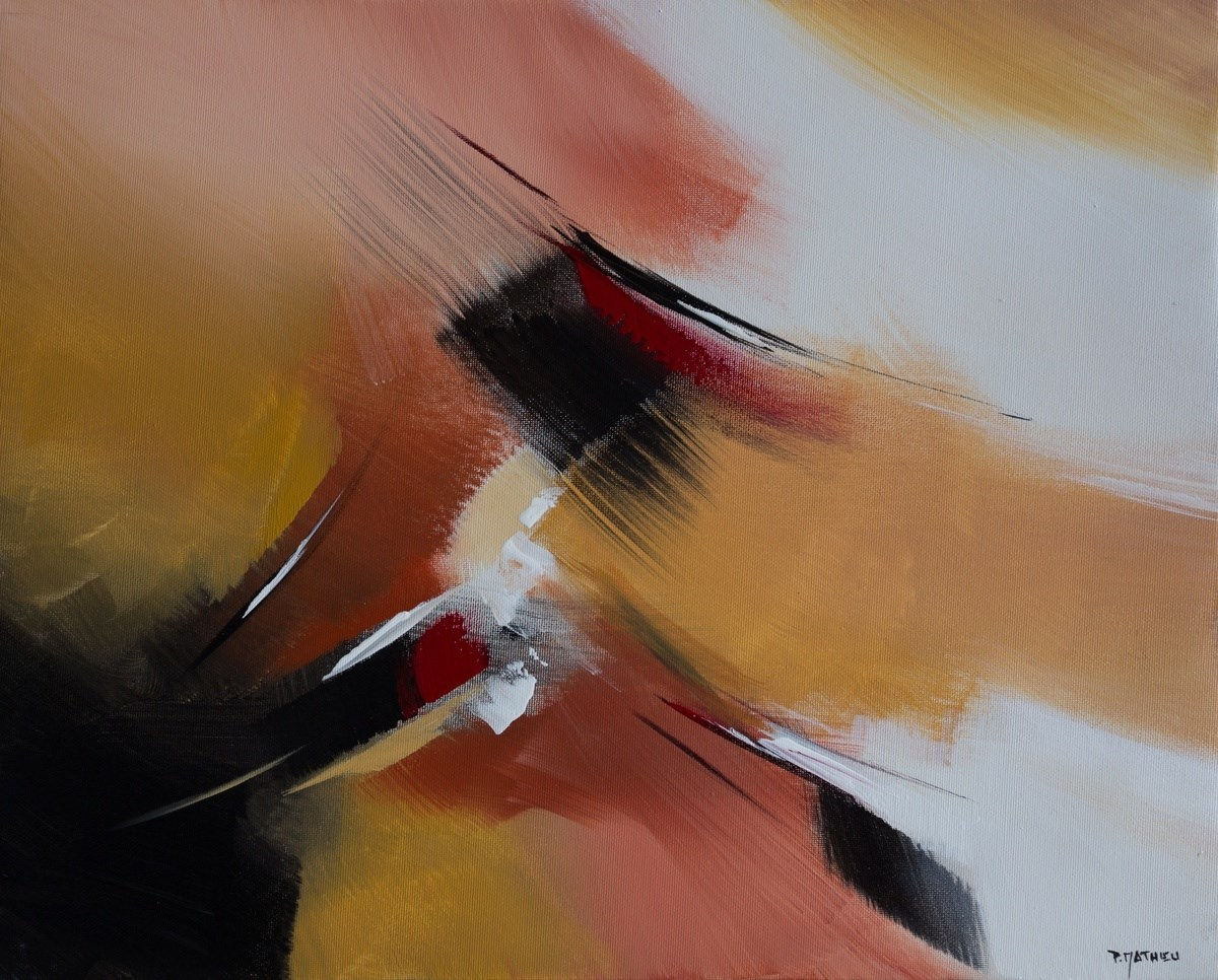 """Couleurs d'Automne II"", original Abstract Acrylic Painting by Paul  Mathieu"