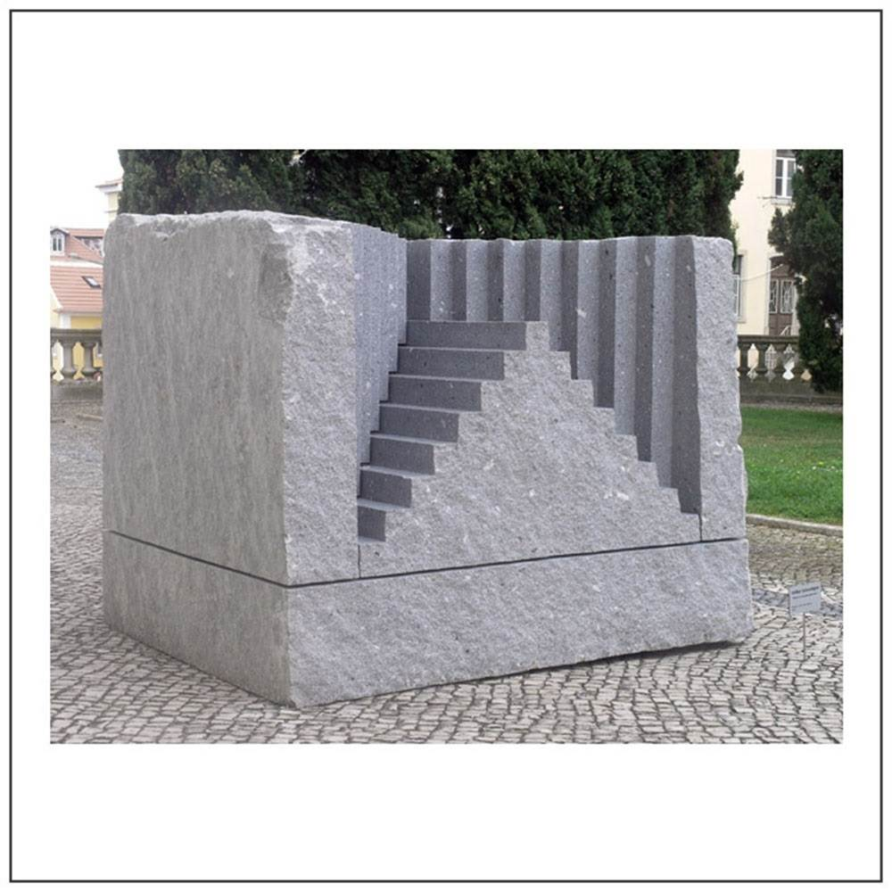 The Stairway to the Castle of your Heart, Escultura Granito Grande formato original por Volker Schnüttgen
